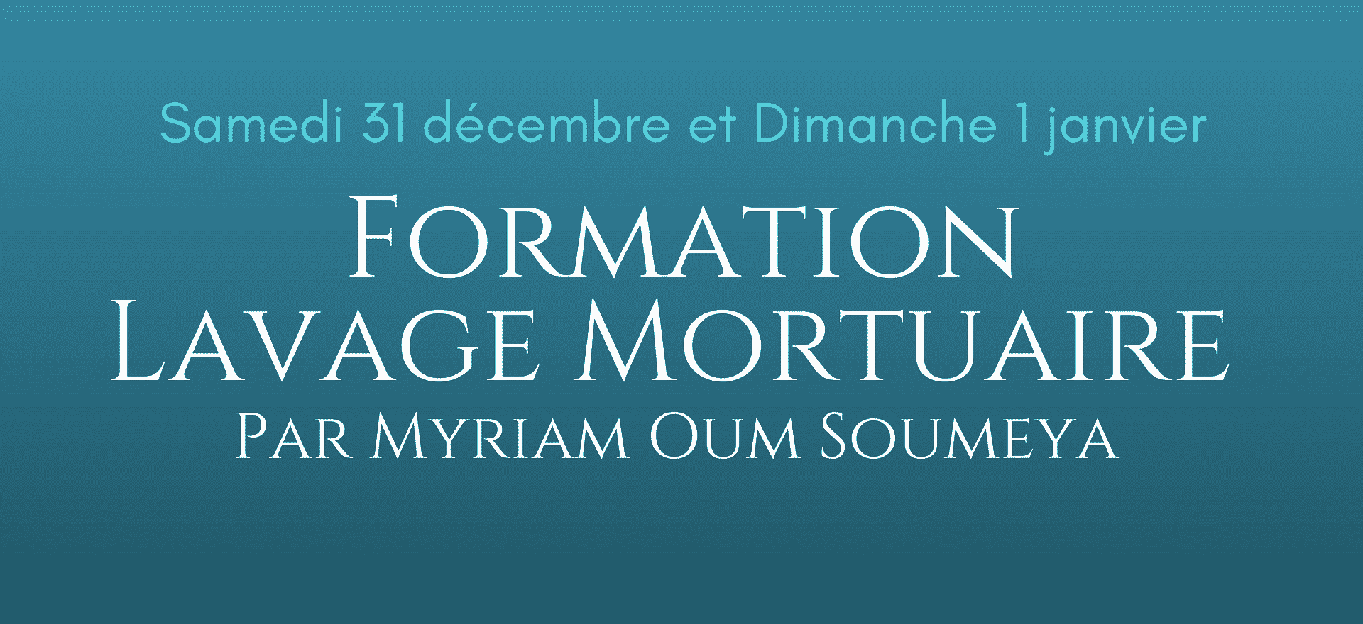 Formation lavage mortuaire